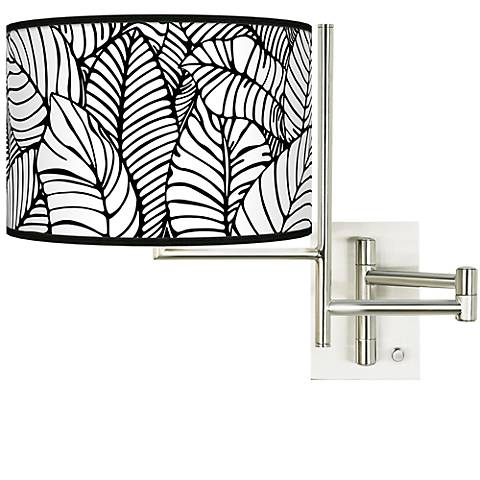 Tempo Tropical Leaves Plug-in Swing Arm Wall Light