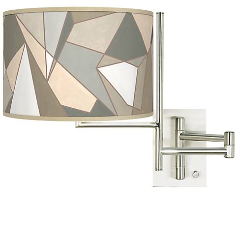 Tempo Modern Mosaic I Plug-in Swing Arm Wall Light