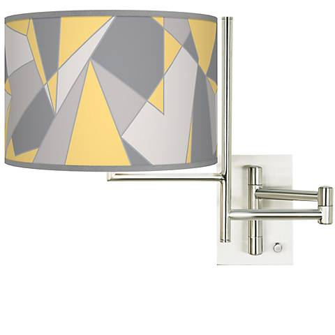 Tempo Modern Mosaic II Plug-in Swing Arm Wall Light