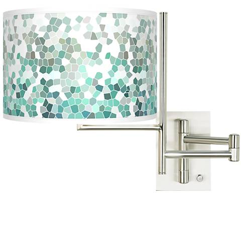 Tempo Aqua Mosaic Plug-in Swing Arm Wall Light