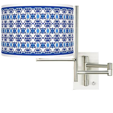 Tempo Indigo Path Plug-in Swing Arm Wall Lamp