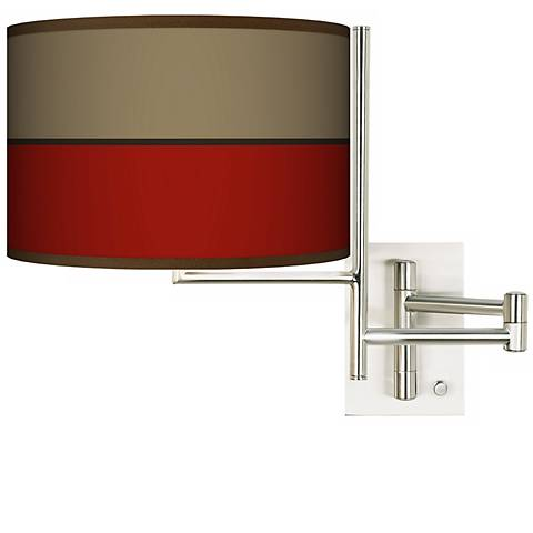 Tempo Empire Red Plug-In Swing Arm Wall Light