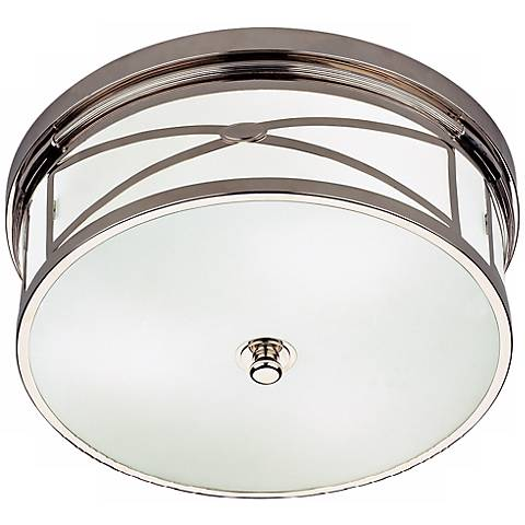 "Robert Abbey Chase 15"" Wide Nickel Flushmount Ceiling Light"