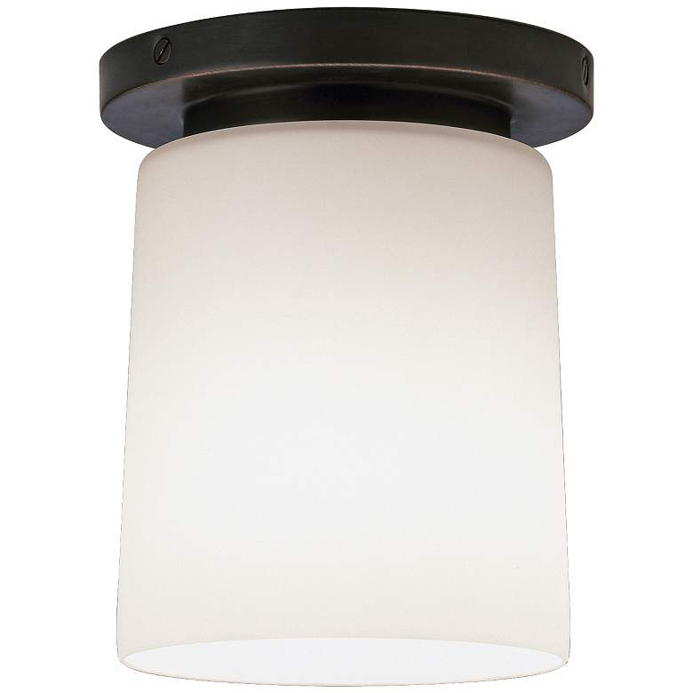 "Robert Abbey Nina Bronze 6"" Wide Flushmount Ceiling Light"