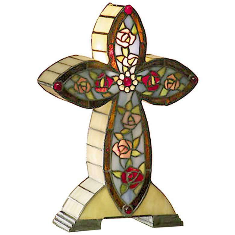 Dale Tiffany Flaura Cross Accent Lamp