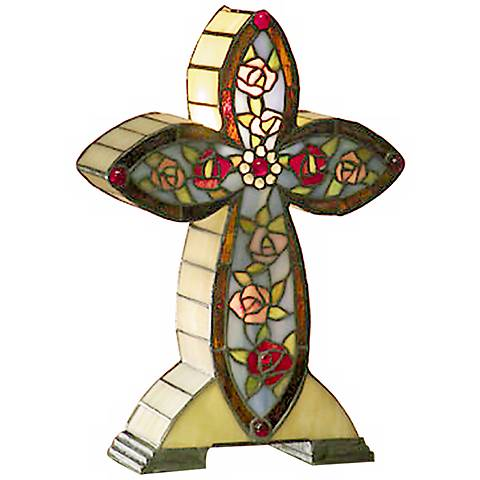 Dale Tiffany Flaura Cross Accent Lamp