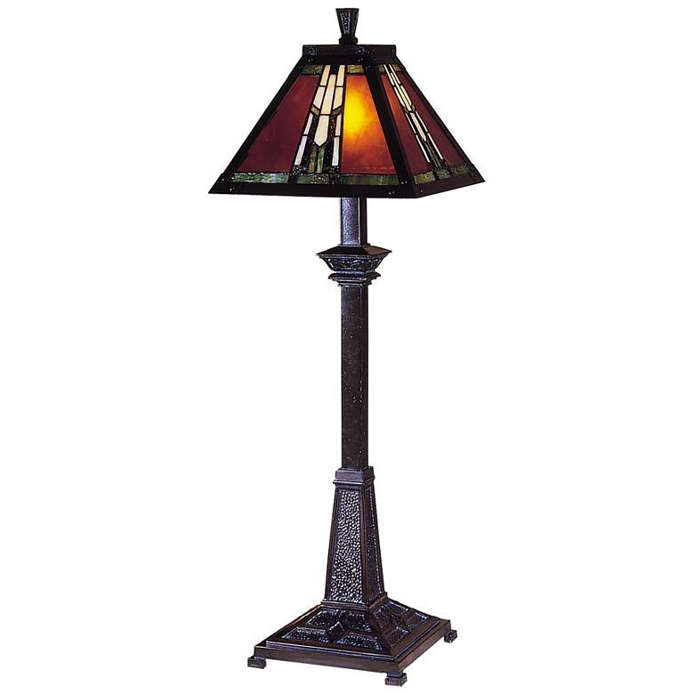 Dale Tiffany Amber Monarch Mission Style Buffet Lamp