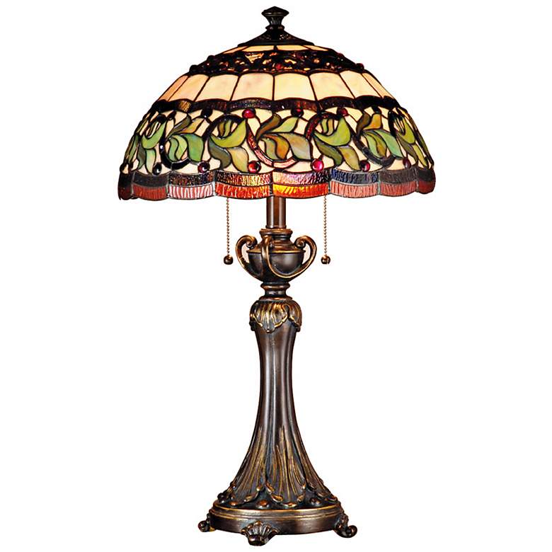 Dale Tiffany Aldridge Art Glass Table Lamp