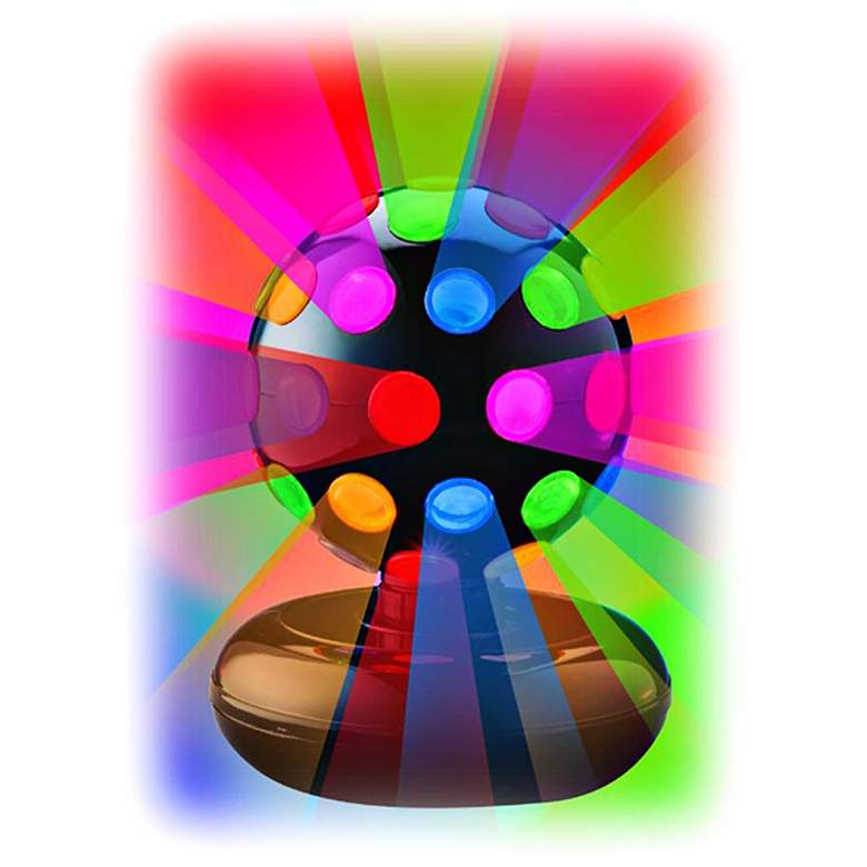 "Rotating Multicolor 6"" Disco Ball Table Lamp"