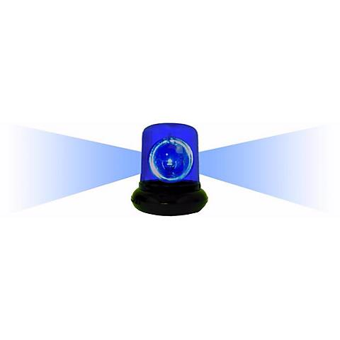 "Blue Spinning 9"" High Police Beacon Light Accent Lamp"
