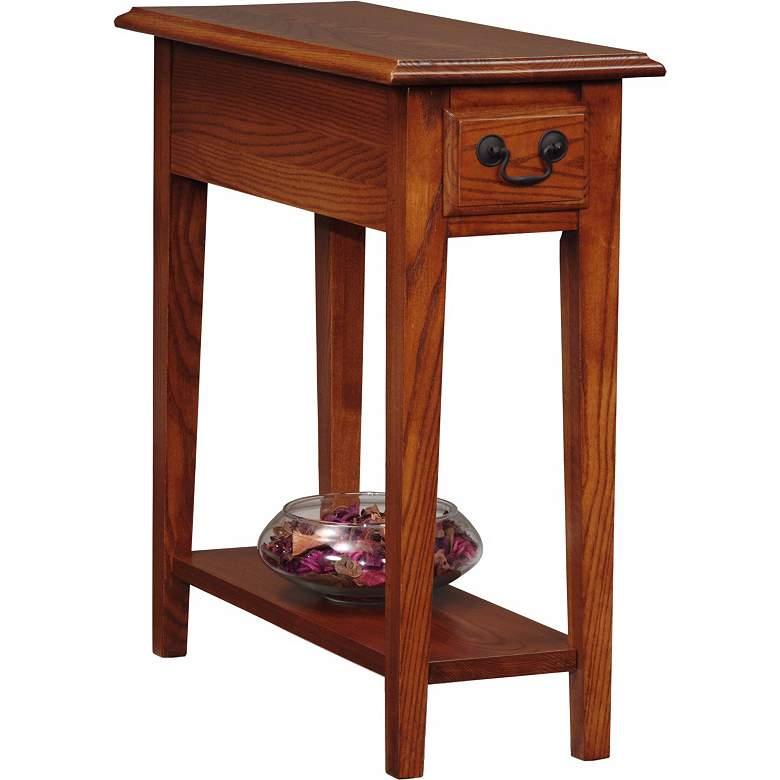 """Favorite Finds 10"""" Wide Oak Wood Side Table"""