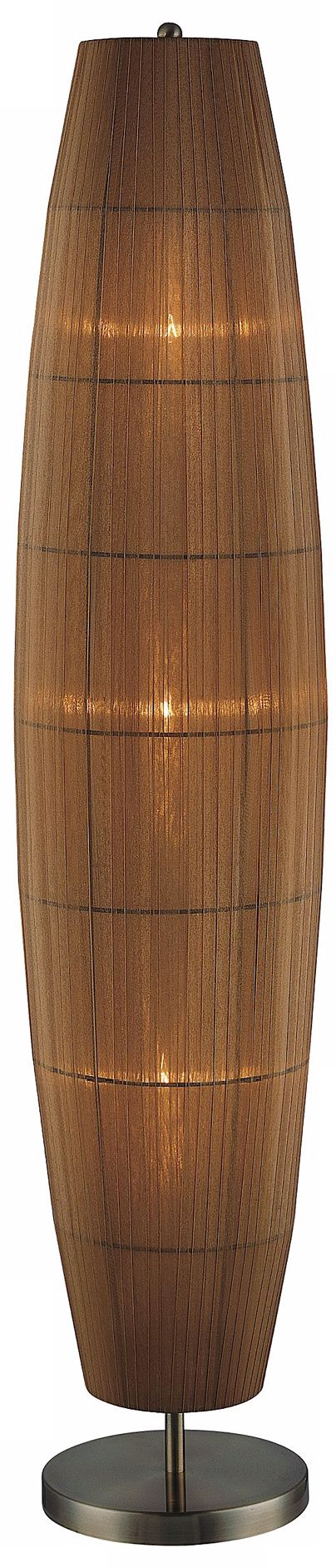 Lite Source Parvati Amber Organza Long Shade Floor Lamp