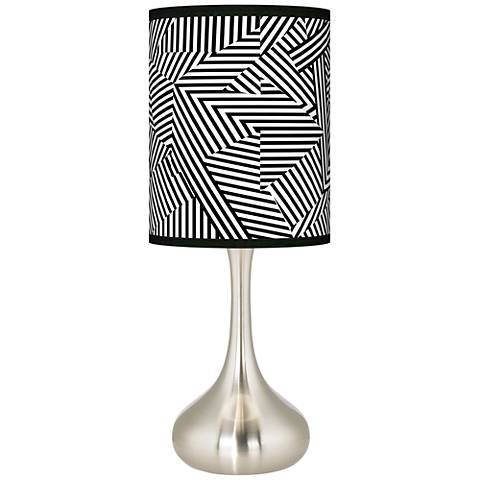 Labyrinth Giclee Droplet Table Lamp