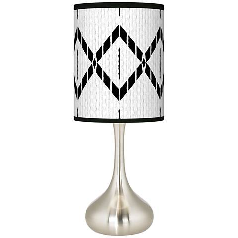Paved Desert Giclee Droplet Table Lamp