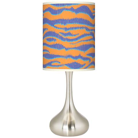 Sunset Stripes Giclee Droplet Table Lamp