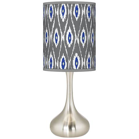 American Ikat Giclee Droplet Table Lamp