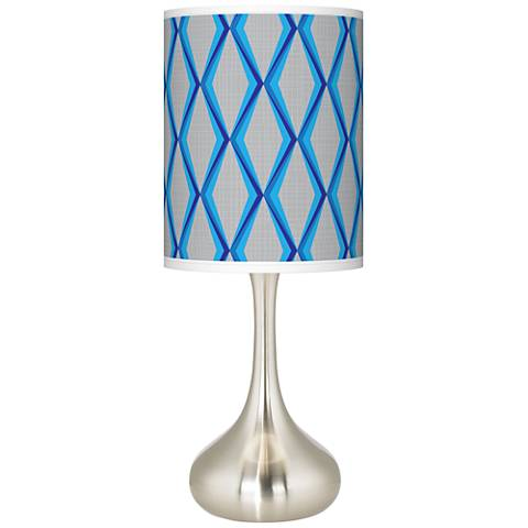 Bleu Matrix Giclee Droplet Table Lamp