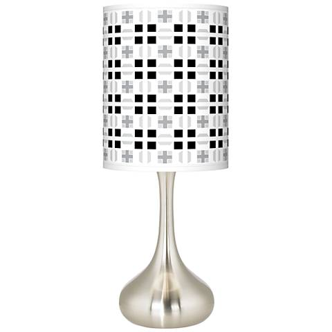 Quadrant Giclee Droplet Table Lamp