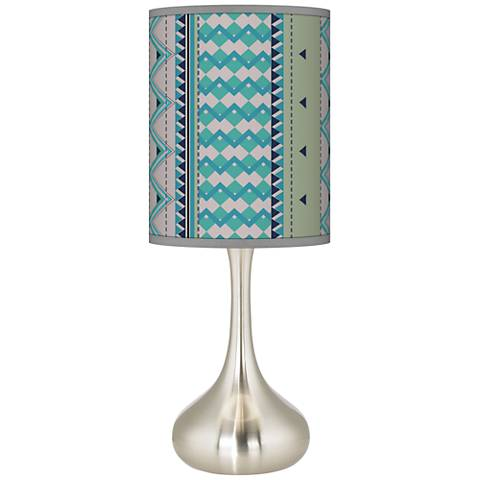 Geo Metrix Giclee Droplet Table Lamp