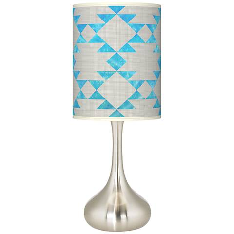 Desert Aquatic Giclee Droplet Table Lamp