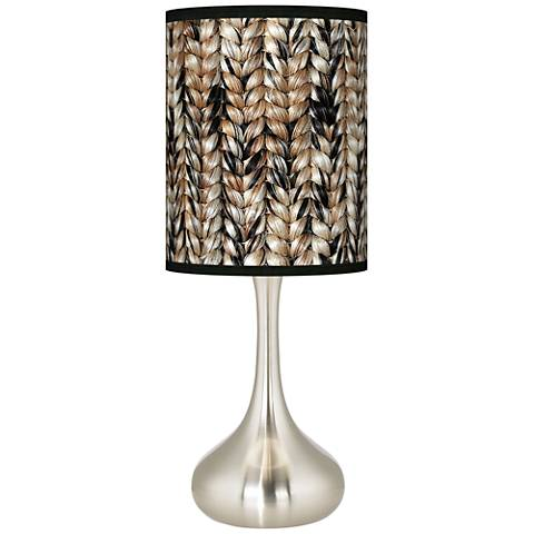 Braided Jute Giclee Droplet Table Lamp