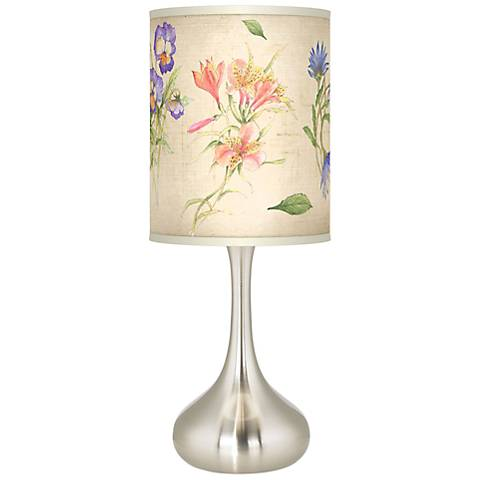 Floral Fancy Giclee Droplet Table Lamp
