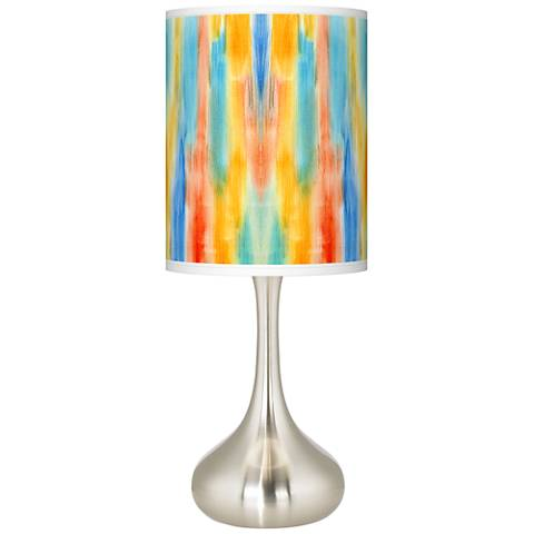 Tricolor Wash Giclee Droplet Table Lamp