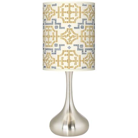 Willow Chinoiserie Giclee Droplet Table Lamp