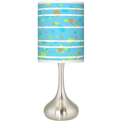 Paint Drips Giclee Droplet Table Lamp