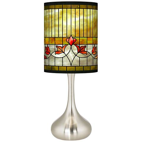 Tiffany-Style Lily Giclee Droplet Table Lamp