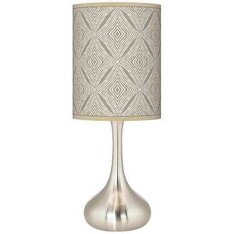 Moroccan Diamonds Giclee Droplet Table Lamp
