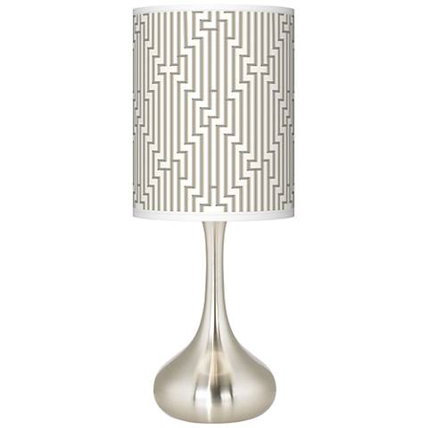 Diamond Maze Giclee Droplet Table Lamp