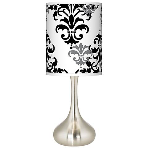 Damask Shadow Giclee Droplet Table Lamp
