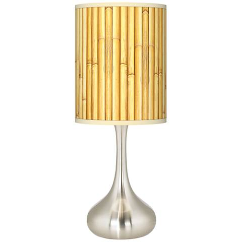 Bamboo Mat Giclee Droplet Table Lamp