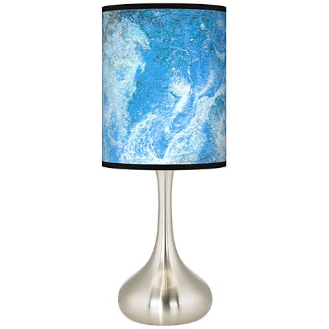Ultrablue Giclee Droplet Table Lamp