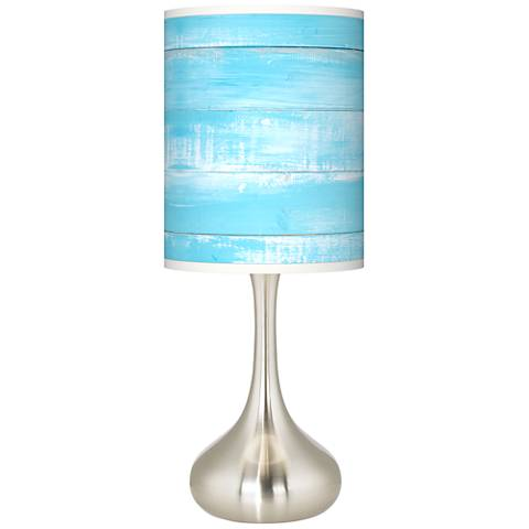 Barnyard Blue Giclee Droplet Table Lamp