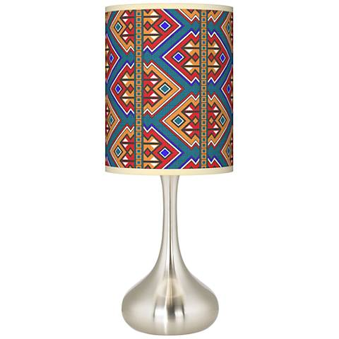 Rich Bohemian Giclee Droplet Table Lamp