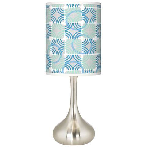 Deco Circles Giclee Droplet Table Lamp