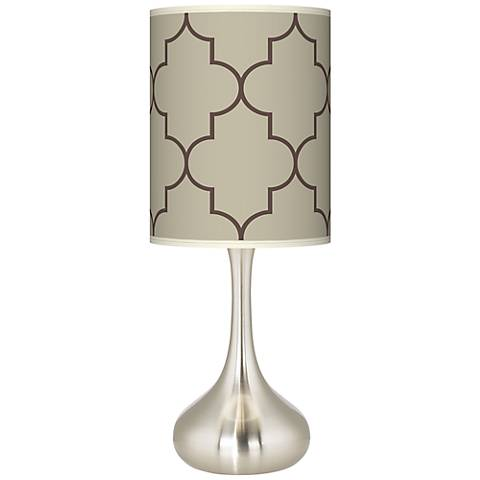 Tangier Taupe Giclee Droplet Table Lamp