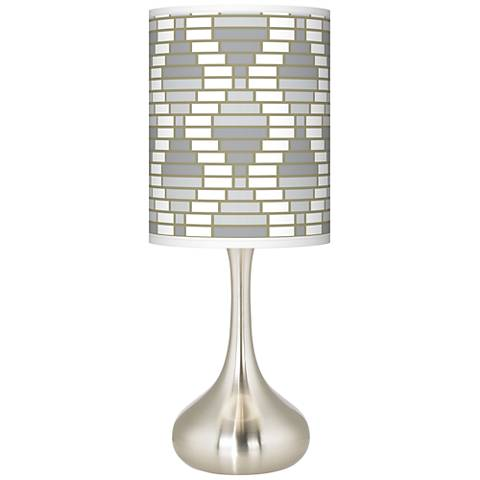 Stepping Out Giclee Droplet Table Lamp