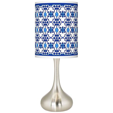Indigo Path Giclee Droplet Table Lamp