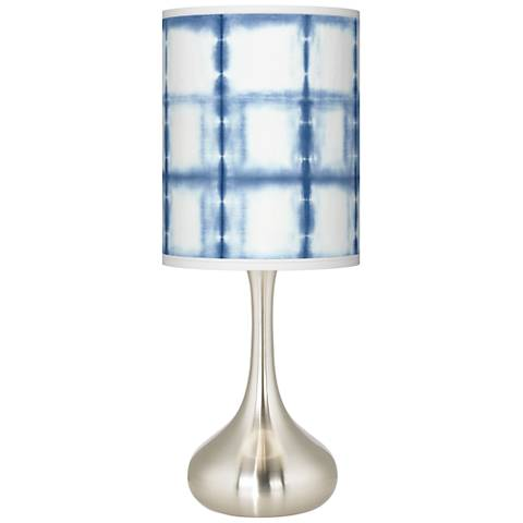 Blue Mist Giclee Droplet Table Lamp