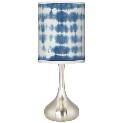 Shibori Surf Giclee Droplet Table Lamp