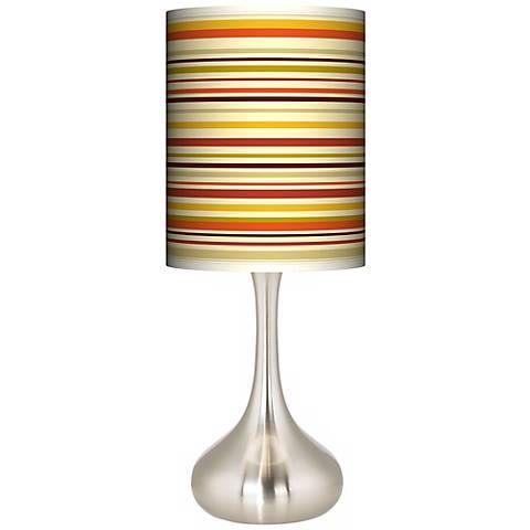 Stacy Garcia Lemongrass Stripe Giclee Droplet Table Lamp