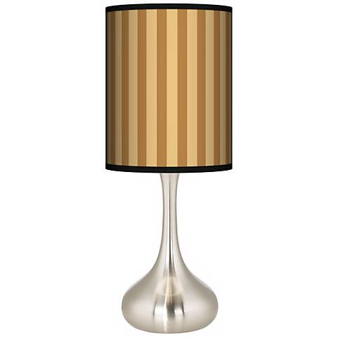 Butterscotch Vertical Giclee Droplet Table Lamp