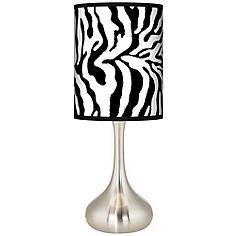 Safari Zebra Giclee Droplet Table Lamp