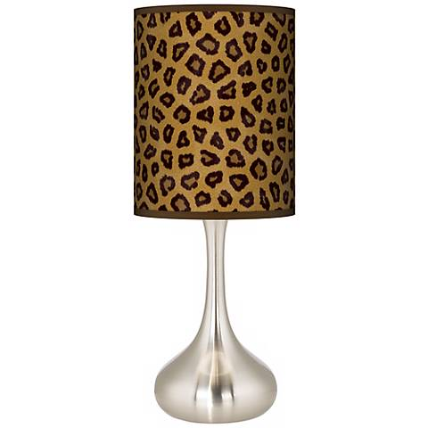Safari Cheetah Giclee Droplet Table Lamp