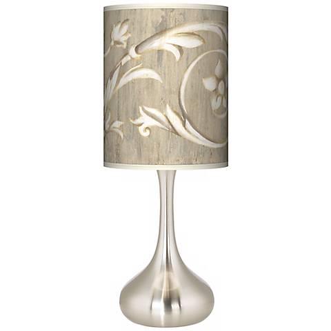 Laurel Court Brushed Steel Court Droplet Table Lamp