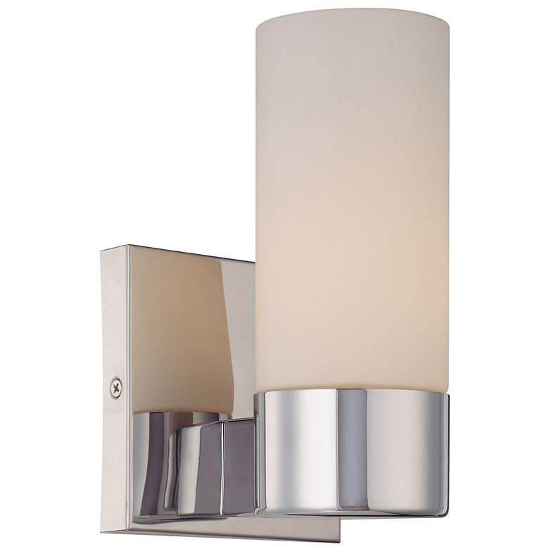 "Opal Glass 7 3/4"" High Chrome Wall Sconce"