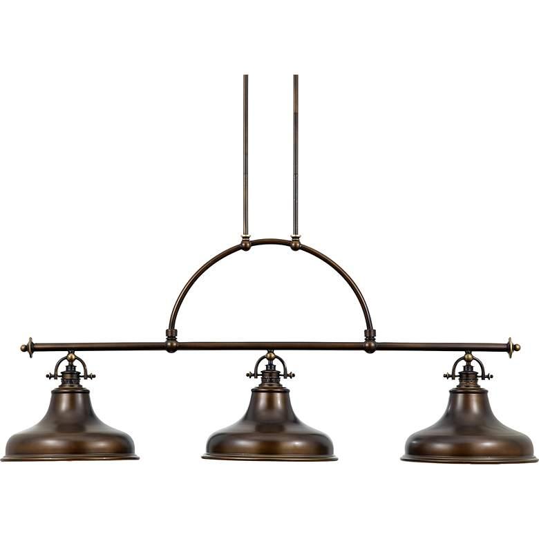 """Emery 53 1/2"""" Wide Bronze Kitchen Island Light Chandelier"""